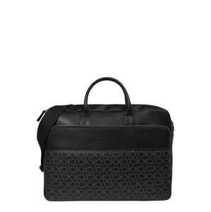 Calvin Klein Taška na notebook  černá / světle šedá