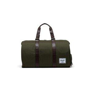 Herschel Cestovní taška 'Novel'  olivová / kaštanově hnědá