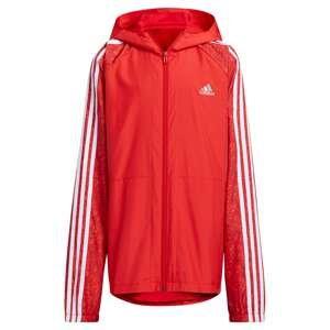 ADIDAS PERFORMANCE Sportovní bunda  červená / bílá