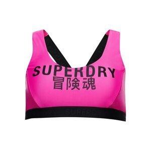 Superdry Horní díl plavek  pink / černá