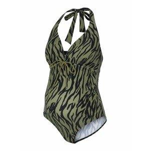 MAMALICIOUS Plavky 'Tenja'  olivová / černá