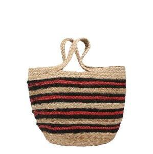 Samsoe Samsoe Plážová taška  béžová / černá / červená