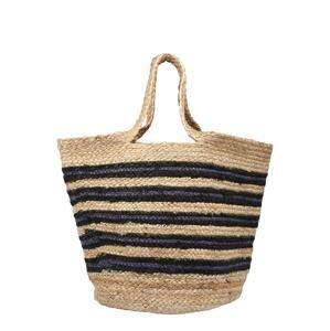 Samsoe Samsoe Plážová taška  námořnická modř / černá / béžová