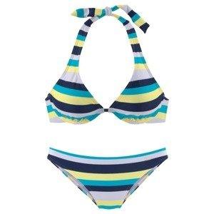 VENICE BEACH Bikiny  námořnická modř / světlemodrá / žlutá / bílá