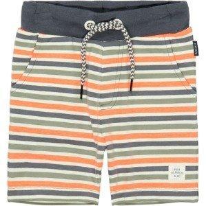 STACCATO Kalhoty  jasně oranžová / noční modrá / bílá / pastelově zelená