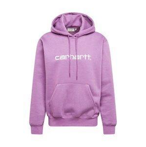 Carhartt WIP Mikina  bílá / bledě fialová