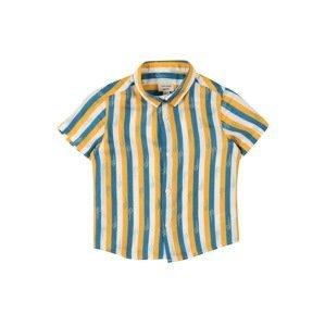 River Island Košile  nebeská modř / zlatě žlutá / bílá