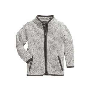 PLAYSHOES Fleecová mikina  šedý melír / tmavě šedá