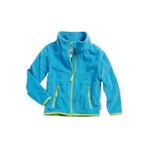 PLAYSHOES Fleecová mikina  světle zelená / aqua modrá