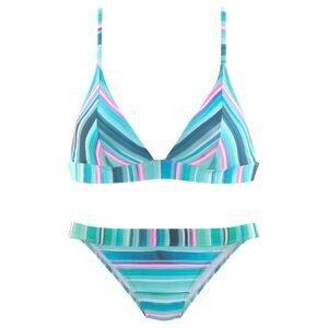 VENICE BEACH Bikiny  tyrkysová / aqua modrá / pink / bílá
