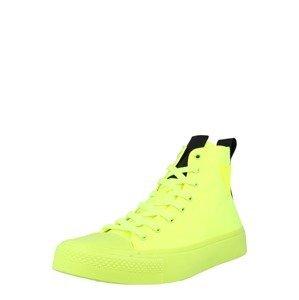 GUESS Kotníkové tenisky 'EDERLE'  svítivě žlutá