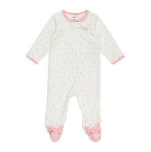 Carter's Dupačky/body 'PIGGY'  slonová kost / šedá / pink