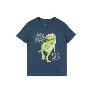 OshKosh Tričko 'CADET'  tmavě modrá / světle zelená / bílá