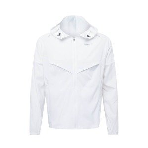 NIKE Sportovní bunda  bílá / stříbrná