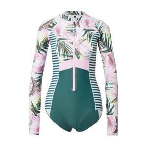 PROTEST Sportovní plavky 'ALLY'  bílá / smaragdová / růžová