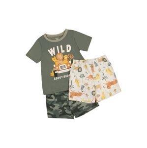 Carter's Pyžamo 'POLY'  bílá / tmavě oranžová / tmavě zelená / černá / tmavě žlutá