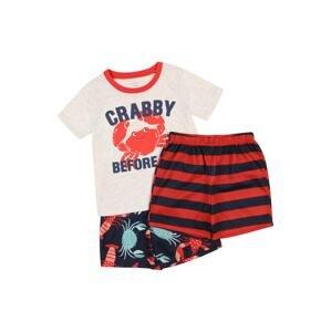 Carter's Pyžamo  ohnivá červená / námořnická modř / lososová / světle šedá / nefritová