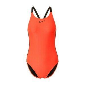 Nike Swim Sportovní plavky  oranžová / černá
