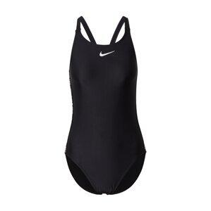 Nike Swim Sportovní plavky  černá / bílá