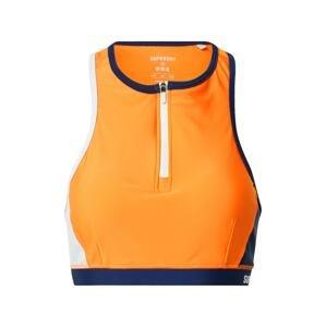 Superdry Horní díl plavek  oranžová / bílá / modrá