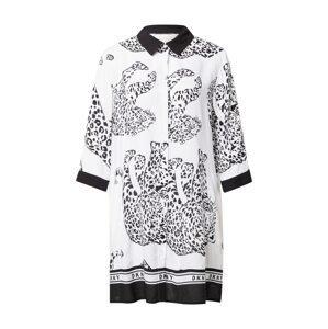 DKNY Noční košilka  offwhite / černá