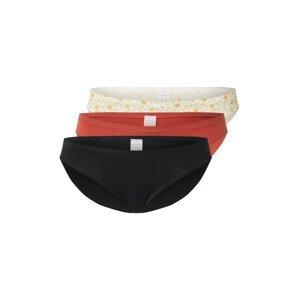 Gilly Hicks Spodní díl plavek  černá / rezavě červená / bílá / šafrán