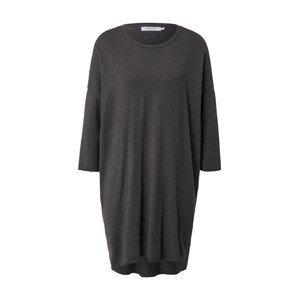 MOSS COPENHAGEN Úpletové šaty 'Rachelle'  černý melír