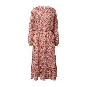 MOSS COPENHAGEN Šaty 'Ailisa'  růžová / vínově červená / bílá