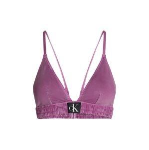 Calvin Klein Swimwear Horní díl plavek  pink / černá / bílá