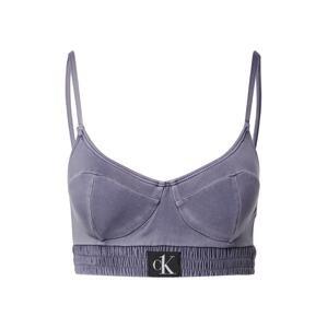 Calvin Klein Swimwear Horní díl plavek  kouřově modrá