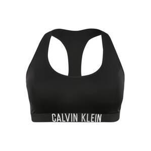 Calvin Klein Swimwear Horní díl plavek  černá / bílá