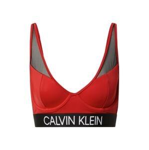 Calvin Klein Swimwear Horní díl plavek  rezavě červená / černá / bílá