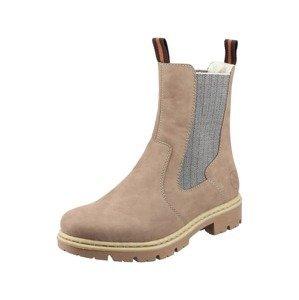 RIEKER Chelsea boty  béžová / šedá