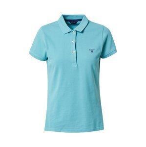 GANT Tričko  aqua modrá