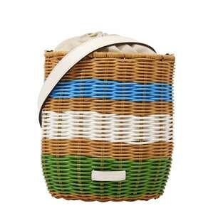 Kate Spade Plážová taška  zelená / bílá / hnědá / modrá