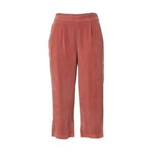 ONLY Kalhoty se sklady v pase  pastelově červená
