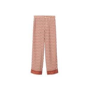 MANGO Kalhoty  tělová / červená