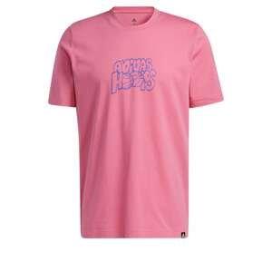 ADIDAS PERFORMANCE Funkční tričko  pink / modrá
