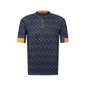 ENDURANCE Funkční tričko 'Jens'  černá / chladná modrá / oranžová / šedá