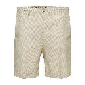 SELECTED HOMME Kalhoty s puky 'Martin'  krémová / světle béžová