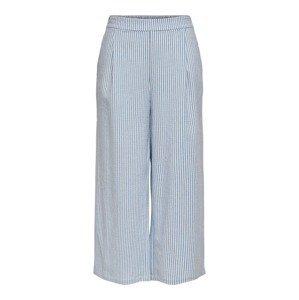 ONLY Kalhoty se sklady v pase  bílá / světlemodrá