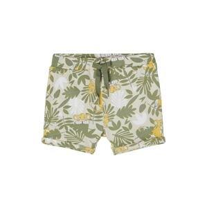 NAME IT Kalhoty  světle šedá / zelená / bílá / žlutá