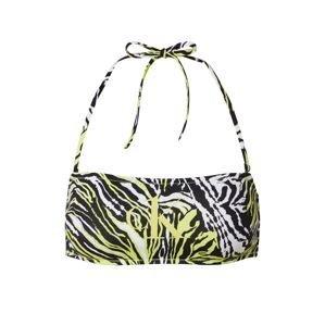 Calvin Klein Swimwear Horní díl plavek  svítivě zelená / bílá / černá