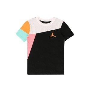 Jordan Tričko  černá / oranžová / pink / bílá / aqua modrá
