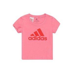 ADIDAS PERFORMANCE Funkční tričko  růžová / červená