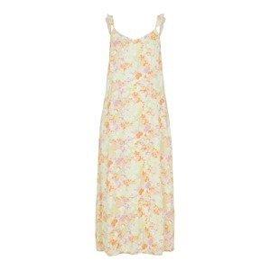 PIECES Letní šaty 'Tina'  pastelově zelená / mix barev