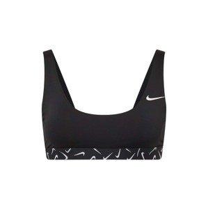 Nike Swim Sportovní svršek bikin  černá / bílá