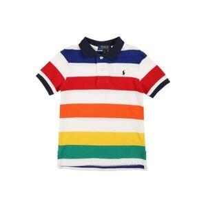 POLO RALPH LAUREN Tričko  bílá / zelená / námořnická modř / oranžová / červená