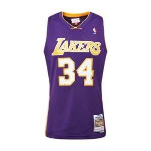 Mitchell & Ness Tričko 'LA LAKERS - NBA SWINGMAN'  bílá / žlutá / tmavě fialová