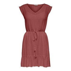 ONLY Letní šaty 'Celia'  pastelově červená